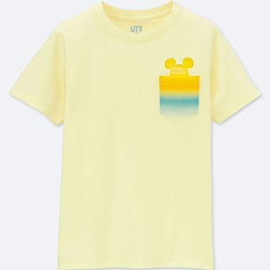 KIDS MICKEY & THE SUN SHORT-SLEEVE GRAPHIC T-SHIRT, YELLOW, medium
