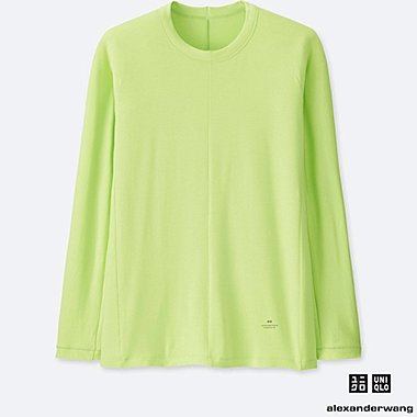 MEN HEATTECH EXTRA WARM LONG-SLEEVE T-SHIRT (ALEXANDER WANG), NEON GREEN, medium