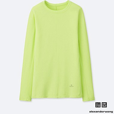 WOMEN ALEXANDER WANG HEATTECH CREW NECK LONG SLEEVED T-SHIRT