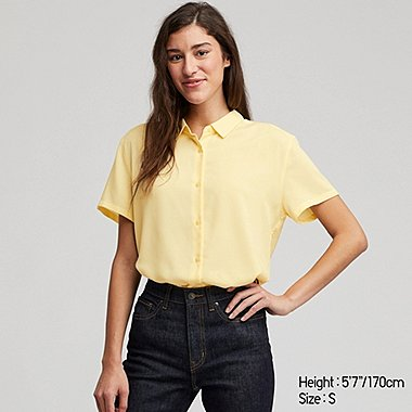 WOMEN RAYON SHORT SLEEVED BLOUSE