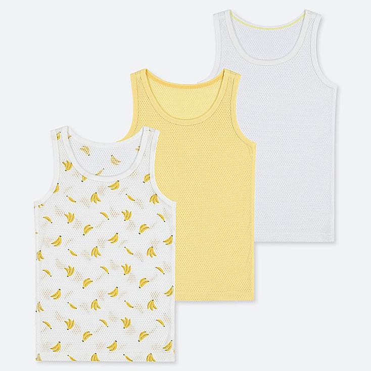 TODDLER COTTON MESH INNER TANK TOP (SET OF 3), YELLOW, large