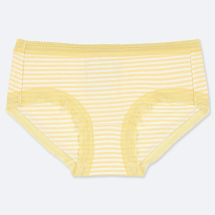 WOMEN STRIPE HIPHUGGER, YELLOW, large
