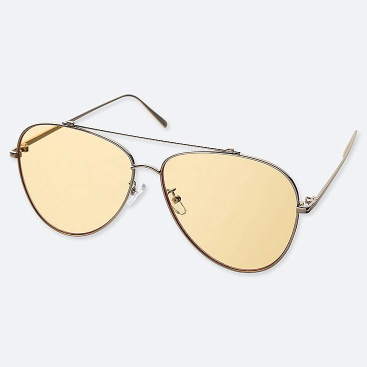 AVIATOR SUNGLASSES, YELLOW, large