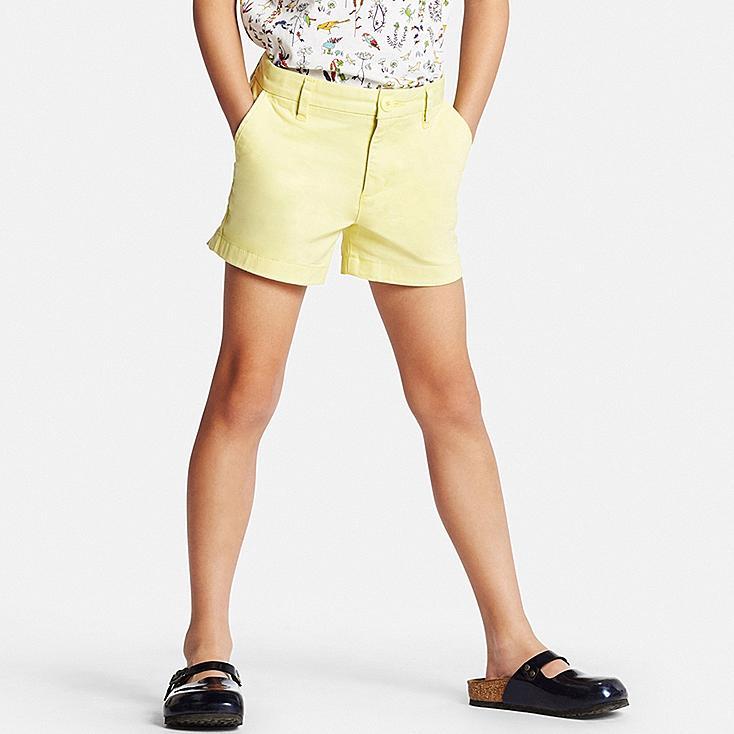 GIRLS Chino Shorts, YELLOW, large