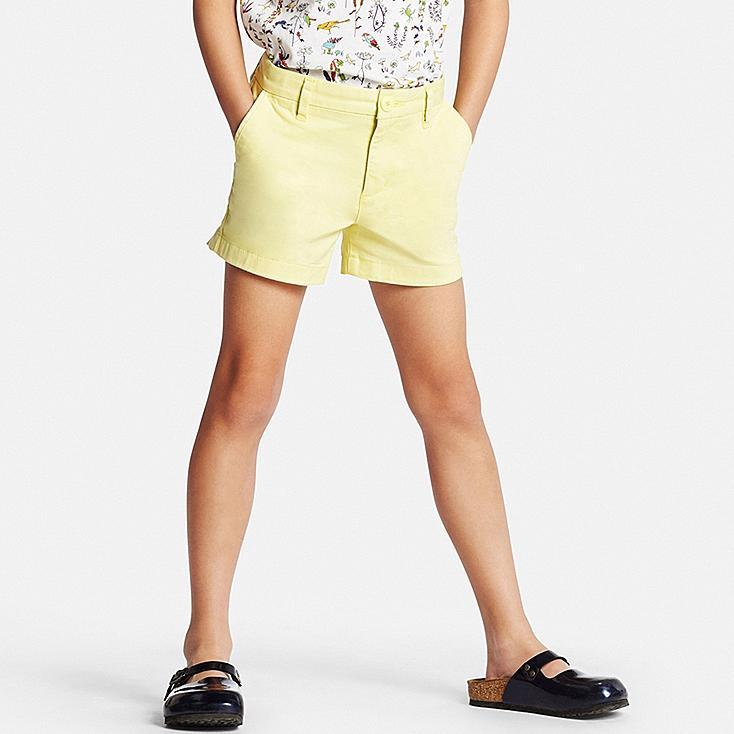 Girls Chino Shorts, YELLOW, large