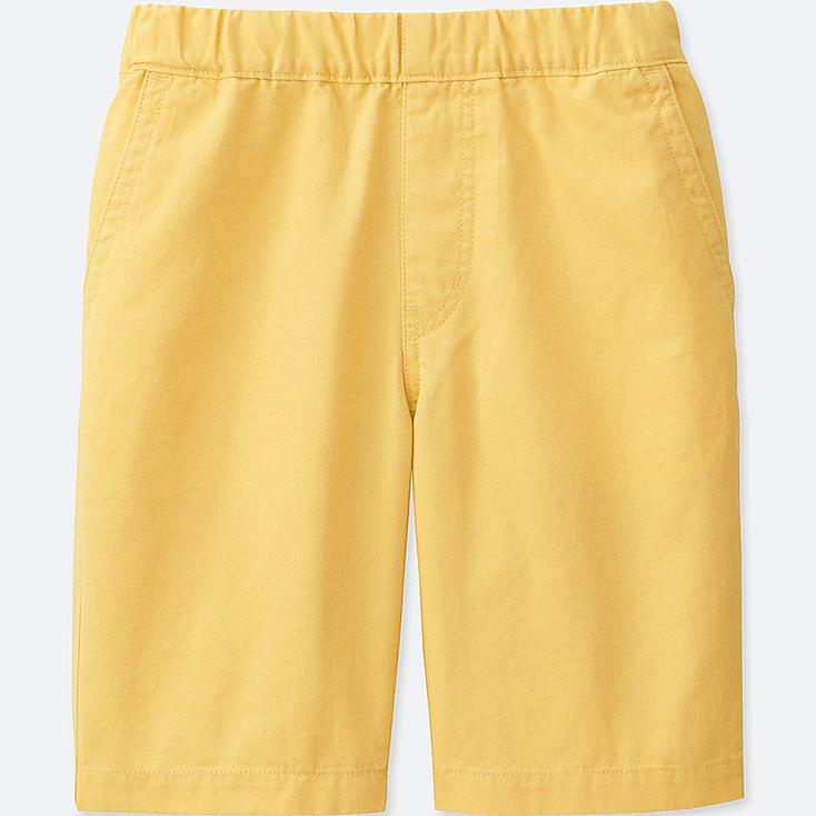 BOYS TWILL EASY SHORTS, YELLOW, large