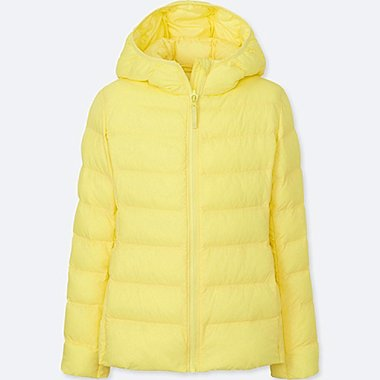 GIRLS LIGHT WARM PADDED PARKA, YELLOW, medium