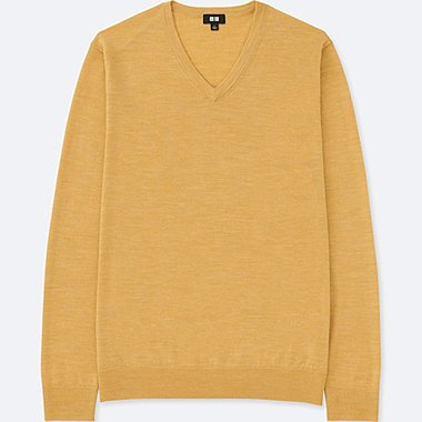 MEN EXTRA FINE MERINO V NECK SWEATER