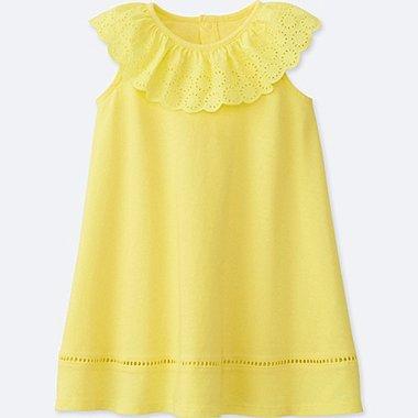 TODDLER SLEEVELESS DRESS, YELLOW, medium