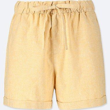 Damen Baumwoll-Leinen-Mix Relaxed Shorts