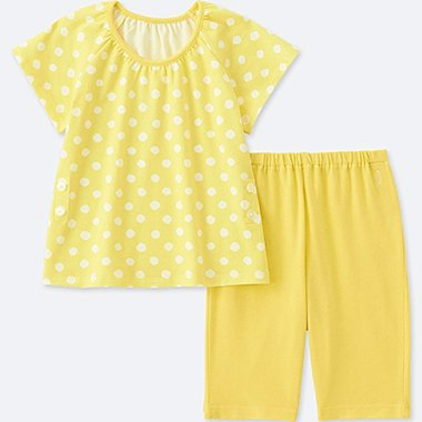 TODDLER DRY SHORT-SLEEVE PAJAMAS, YELLOW, medium
