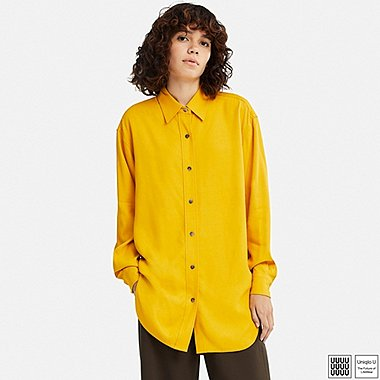 WOMEN UNIQLO U DRAPY TWILL LONG SLEEVED TUNIC