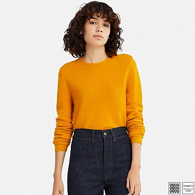 WOMEN UNIQLO U WOOL CREW NECK SWEATER