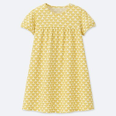 TODDLER Scion BABY SHORT-SLEEVE DRESS, YELLOW, medium