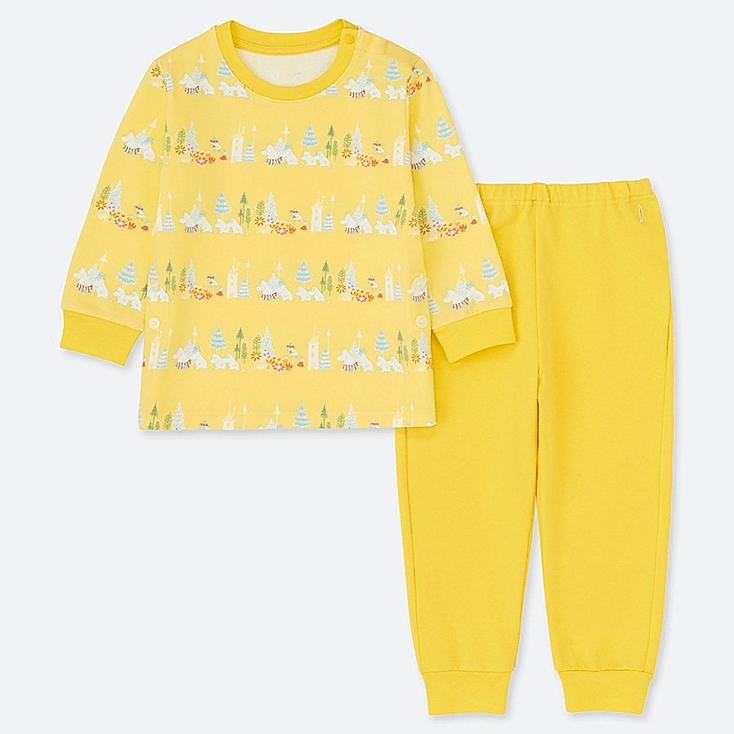 TODDLER MOOMIN LONG-SLEEVE PAJAMAS, YELLOW, large