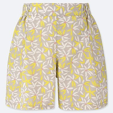 GIRLS EASY FLARE SHORTS, YELLOW, medium