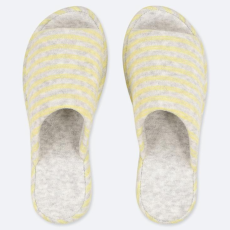 PILE-LINED SLIPPERS, YELLOW, large