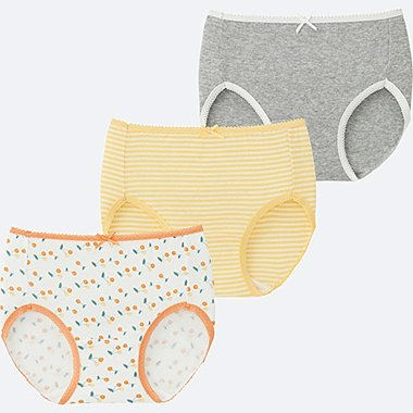 GIRLS SHORTS 3P, YELLOW, medium
