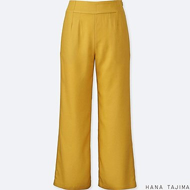 WOMEN HANA TAJIMA Tencel Wide Ankle Length Trousers