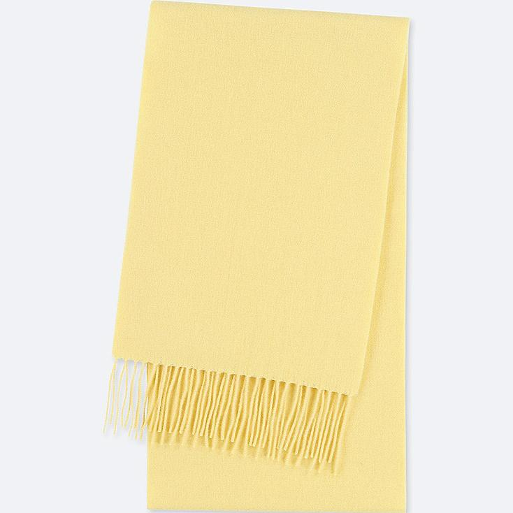 CASHMERE SCARF, YELLOW, large
