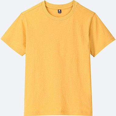 KIDS PACKAGED COLOR CREW NECK SHORT-SLEEVE T-SHIRT, YELLOW, medium