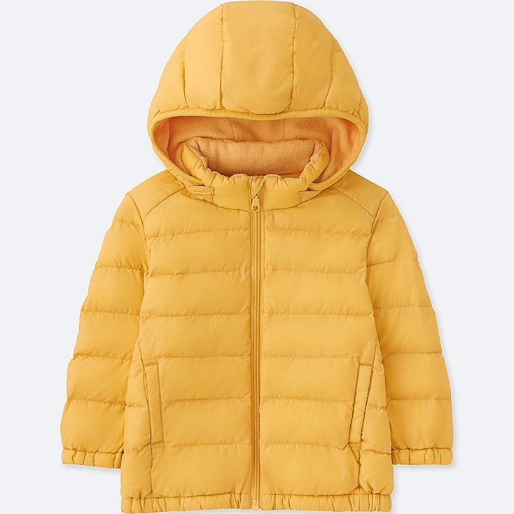 TODDLER LIGHT WARM PADDED FULL-ZIP PARKA, YELLOW, large