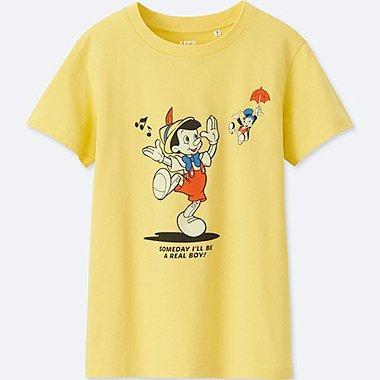 WOMEN SOUNDS OF DISNEY SHORT-SLEEVE GRAPHIC T-SHIRT, YELLOW, medium