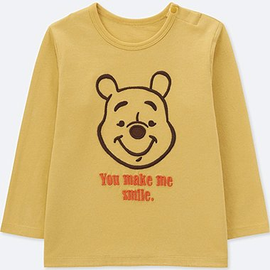 TODDLER DISNEY COLLECTION CREWNECK LONG-SLEEVE T-SHIRT, YELLOW, medium