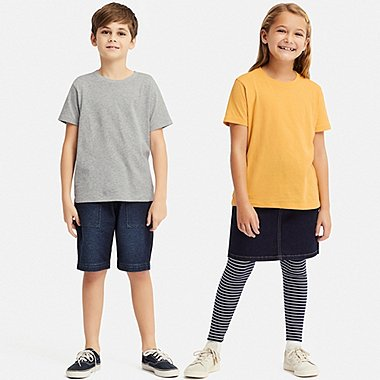 KIDS COLOUR CREW NECK SHORT SLEEVED T-SHIRT