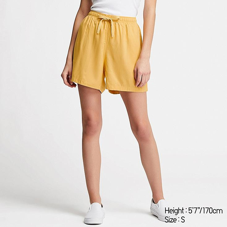 WOMEN RELACO SHORTS, YELLOW, large