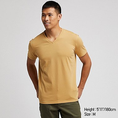 MEN SUPIMA COTTON V NECK SHORT SLEEVED T-SHIRT