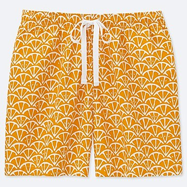 WOMEN U KAMAWANU COTTON RELACO SHORTS, YELLOW, medium