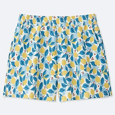 WOMEN Scandinavian SHORTS, YELLOW, medium