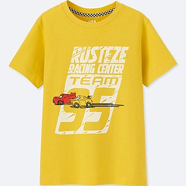 KIDS CARS 3 SHORT-SLEEVE GRAPHIC T-SHIRT, YELLOW, medium