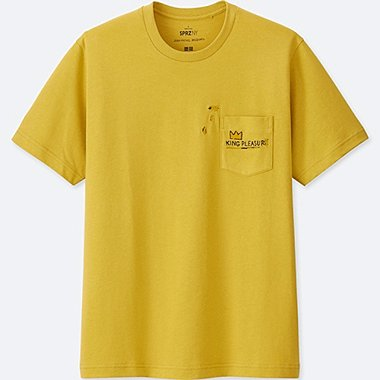 MEN SPRZ NY SHORT-SLEEVE GRAPHIC T-SHIRT (JEAN-MICHEL BASQUIAT), YELLOW, medium