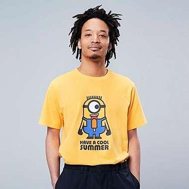 MINIONS SHORT-SLEEVE GRAPHIC T-SHIRT, YELLOW, medium