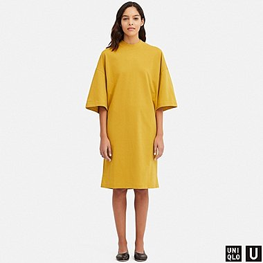 DAMEN UNIQLO U T-SHIRT-KLEID MIT OVERSIZED-SILHOUETTE