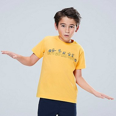 KIDS MINIONS SHORT-SLEEVE GRAPHIC T-SHIRT, YELLOW, medium