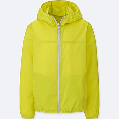 KIDS LIGHT POCKETABLE PARKA, YELLOW, medium
