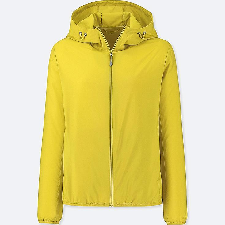 WOMEN POCKETABLE PARKA, YELLOW, large