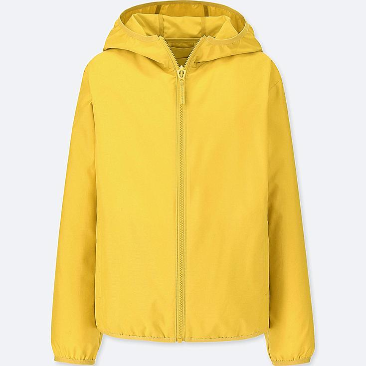 KIDS POCKETABLE PARKA, YELLOW, large