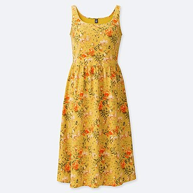 WOMEN STUDIO SANDERSON FOR UNIQLO SLEEVELESS BRA DRESS, YELLOW, medium
