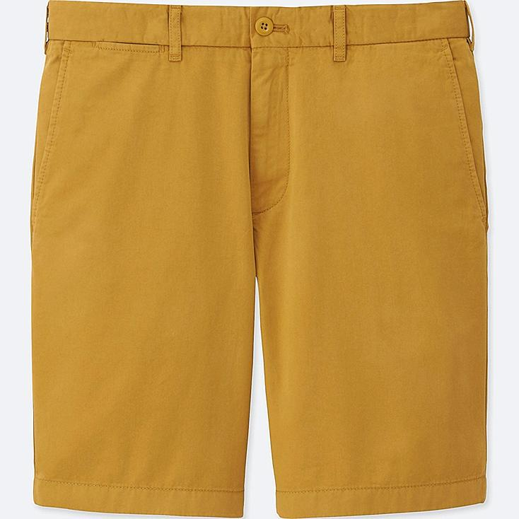 MEN CHINO SHORTS, YELLOW, large