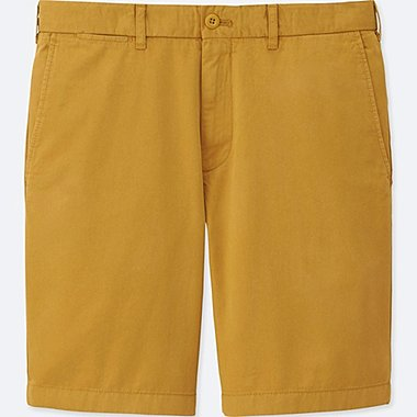 MEN CHINO SHORTS, YELLOW, medium