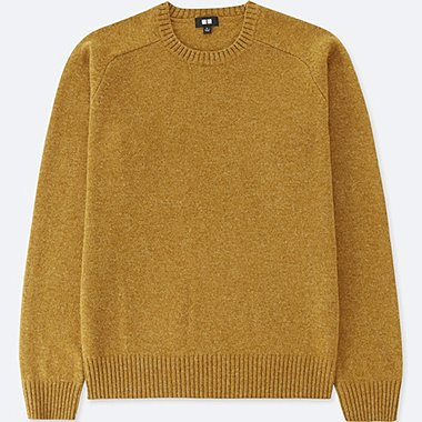 MEN LAMBSWOOL CREW NECK SWEATER