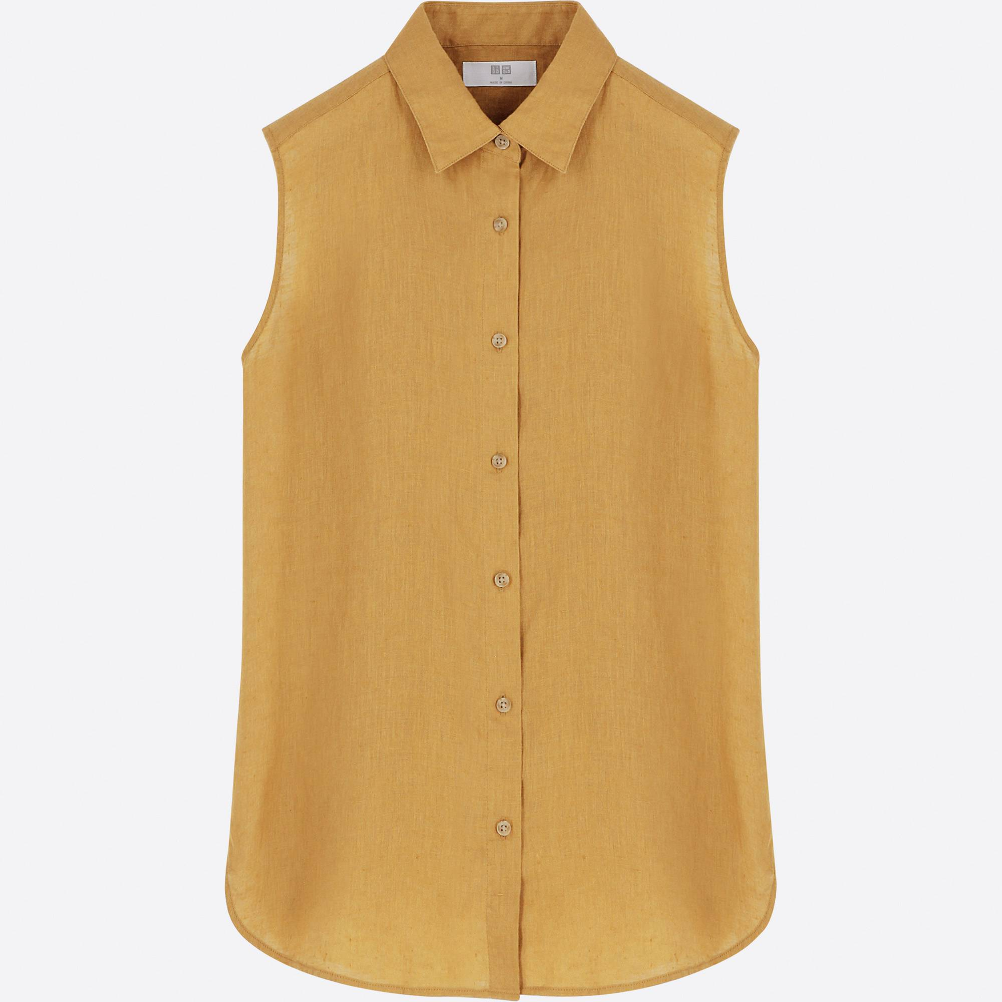 UNIQLO / Shirts And Blouses women premium linen sleeveless shirt