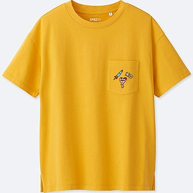 WOMEN SPRZ NY GRAPHIC T-SHIRT (Timothy Goodman), YELLOW, medium
