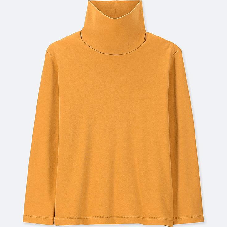 KIDS SOFT TOUCH TURTLENECK LONG-SLEEVE T-SHIRT, YELLOW, large