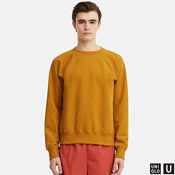 MEN U LONG-SLEEVE SWEATSHIRT, YELLOW, large