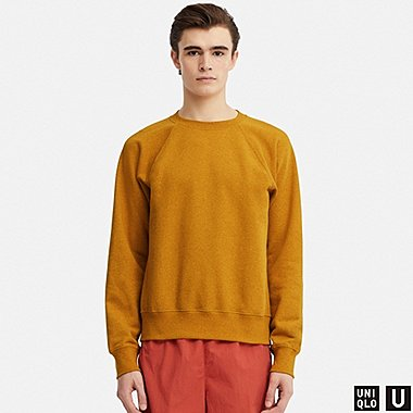 MEN U LONG-SLEEVE SWEATSHIRT, YELLOW, medium